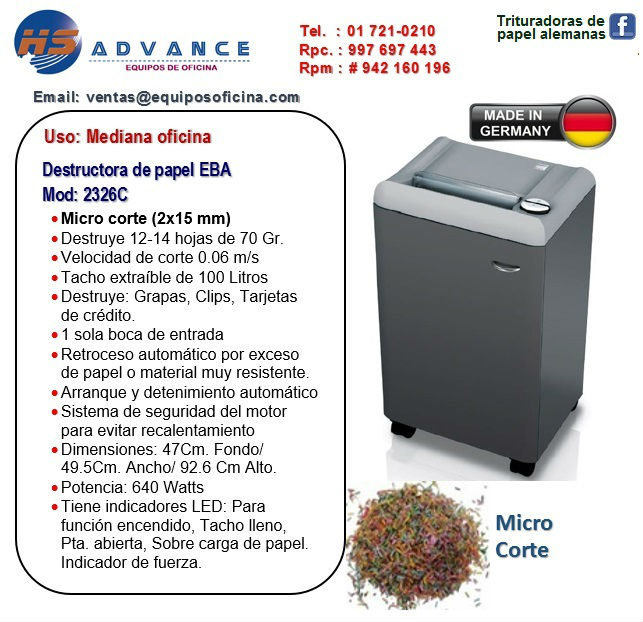 Med. Ofic. EBA 2326C (Micro Corte)