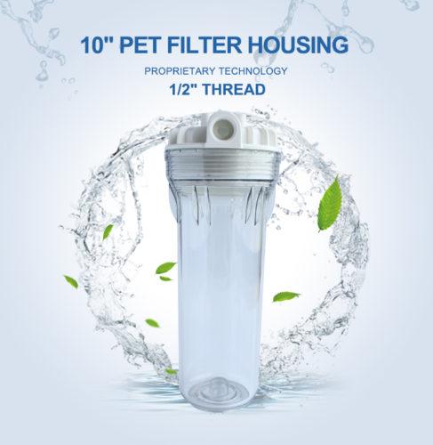 Carcasa De Filtro De Agua Transparente De 10 Pulgadas